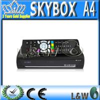Latest  Original Skybox A4 + GPRS internal / HIGH light LED Display  2 USB original  Digital satellite receiver Free shipping