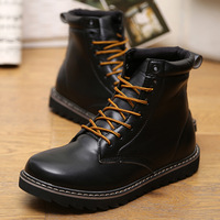 2013 New Winter boots factory selling Male short  vintage fashion martin    tidal current  high-top  lacing    ISO quality