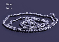 50cm Long Mens/Womens Titanium Link Chains Necklace for LOTR Ring Pattern 4