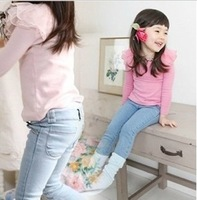 Retail 1 pcs 2013 winter thick leggings children pants jeans for girls kids trousers Fashion Hot CCC223