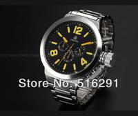 Free Ship,2013 New  52MM Russian Style Jumbo Military Chronograph Men's Marine japan Miyota j20 Movment quartz Watch,Black Dial