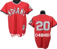 AA+ 9 multi Frank Robinson baseball jersey,throwback 1975 Indians road red cooperstown authentic,men women youth custom jersey