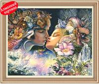 Free shipping Wholesale retail DIY diamond painting diamond cross stitch kit Inlaid decorative painting Century Kiss DM1203043