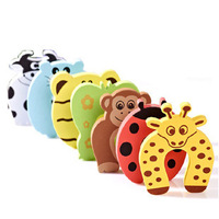 100pcs[ 7 color paperback door cards ] EVA Cartoon security door doorstop thicker doors Carmen file folder windproof