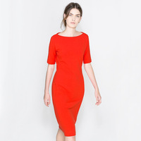 fashionable orange color dress! graceful ladies have/ sexy party dress!free shipping