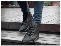 2014 Men's British Fashion Casual Lace-up High Top Leather Shoes Ankle Boots  free shipping