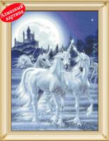 Free shipping Wholesale retail DIY diamond painting diamond cross stitch kit Inlaid decorative painting  Unicorn DM1203048