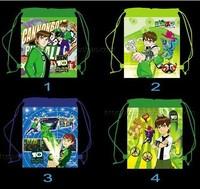 Free shipping 1PCS/LOT ben Cartoon Drawstring Backpack Bag ,Children Kids Bag 34X27CM,schoobag,party gift-000