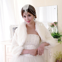 Water long-sleeve cape coat bride wedding fur shawl winter thermal married formal dress waistcoat accessories