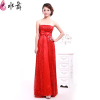 Water sweet red tube top the bride wedding dress wedding dress evening dress