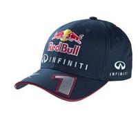 F1 Racing 2013 Sebastian Vettel Driver Cap No.1   elastic band Mesh-inserts cotton top quality free shipping