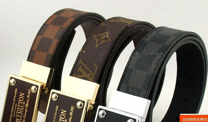 NEW genuine Leather waist Belts for Men fashion Gold and Silver Buckle Leather Belts Free shipping High quality Hot sale(China (Mainland))