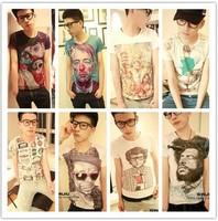 Size M-XL Unique Fashion Summer All-Match Men's Short Sleeve Cotton 3D Printed T-Shirt Free Shipping 3D-001