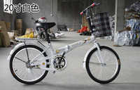"""2014 top fasion special offer 20"""" army green sky blue chocolate orange pink folding bike 16 20 bicycle gentlewomen car student"""