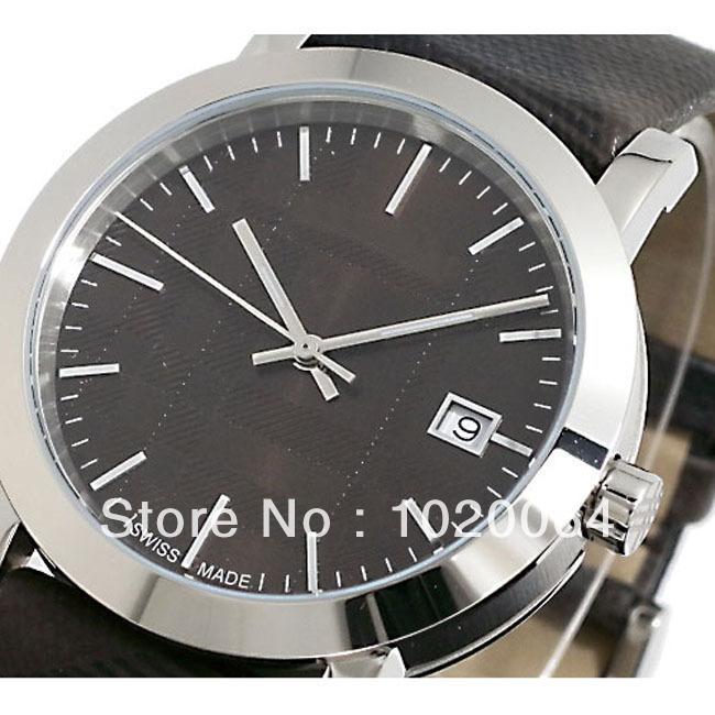 2013 Swiss Quartz Movement Watch For Men New Auth Bu1774 Check Fabric Nova Band Dial Watch Bu 1774/#18(China (Mainland))