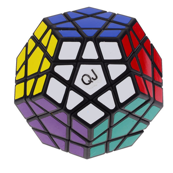 QJ 12-Color Megaminx Dodecahedron Puzzle Cube Magic Cube - Black &White Toys For Children Free Shipping(China (Mainland))