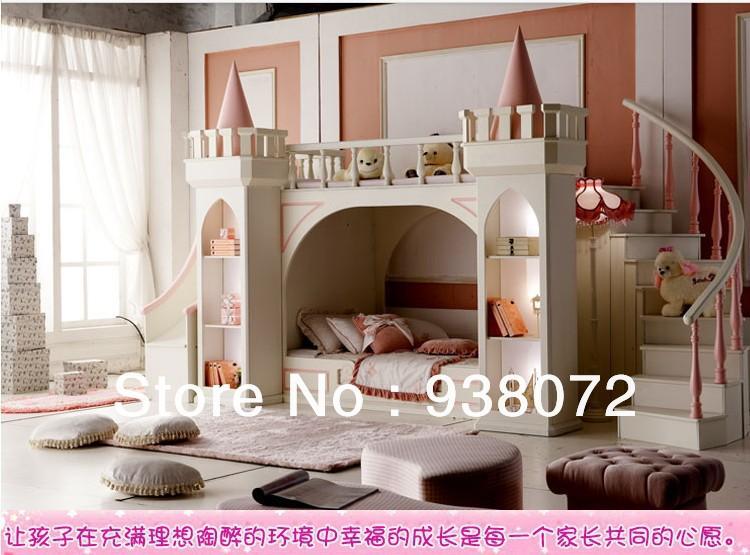 Livraison gratuite enfants ensemble de meubles chambre lit superpos princess - Lit superpose princesse ...
