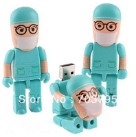 Wholesale custom   New Full USB 2.0 2GB 4GB 8GB 16GB 32GB Flash Drive Doctor Shaped Memory Stick U Disk FREE SHIPPING!!