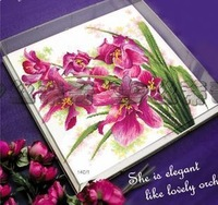 Free Shipping christmas sale Cross stitch dmc spiraea rs herbal stc 100205 orchid