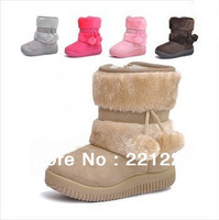 2014 Free Shipping Winter Boots Baby Snow Boots Child Snow Boots Children Antislip Child Warm Shoes Kids Booties Cotton Boots