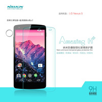 Free shipping original bulk sales NILLKIN Amazing H+ Nanometer Anti-burst Tempered Glass Screen Protector for LG Nexus 5