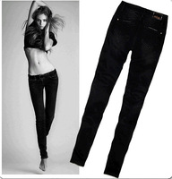 High quality female foot pencil jeans