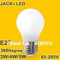 NeW 10pcs/lot led bulb light E27 E14 lamp High brightness 3W 4W 5W LED Globe Bulb Cold white/warm white AC85V-265V wholesale