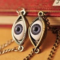 Fashion vintage punk single eye of angel short necklace Free shipping/Wholesale HL12207