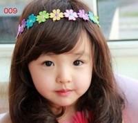 Brand New Children broadband  hairbands ribbon lovely mini portable Hair Flower