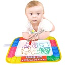 Hot Sale 2014 New Educational Baby Children Play Polyester Paint Toys Mat& Doodle Magic Pen/Water Drawing Board 29*19cm 19384(China (Mainland))