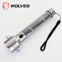 Led glare flashlight belt life-saving hammer compass stainless steel alloy material
