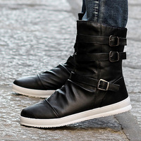 Winter boots male boots fashion   the trend of high leather shoes male boots male
