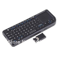 72 keys keyboard,mini bluetooth keyboard with touchpad Freeshipping