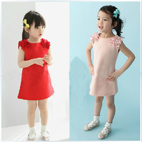free shipping size 90-130CM kid's summer dress girl's dress girl's wear dress girl's lovable dress