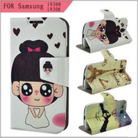 NEW Hybrid Wallet Flip PU Leather Case Flip Cover FOR SAMSUNG Galaxy S3 i9300 S III Phone Bags Hot item