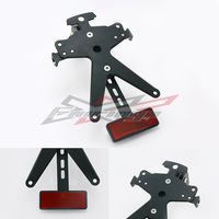 Black Aluminum License Number Plate Mounting Holder Bracket Support Tail Tidy SMD Indicator LED Lights For Honda CBR250 2012