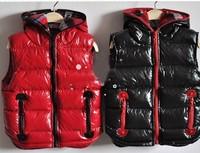 Autumn new children 's clothes thicker bright lint vest Korean factory direct wild hooded vest children
