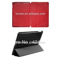 Ultra slim crazy horse flip leather case cover for ipad 5 apple air free shipping