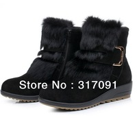 Hot Fashion Women boots Cute Bowknot Winter Warm Ankle Snow Boots women genuine leather shoes2 Color