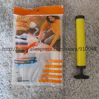 FREE SHIPPING! 1 pc of 50*60cm  vacuum storage bag plus 1 pc of hand air pump for vacuum bag