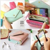 Hot Sell 7 Color PU Leather Crown Smart Pouch/Mobile Phone Case/Mobile Phone Bag/Card Case/PU Wallet Free Shipping (TY03)
