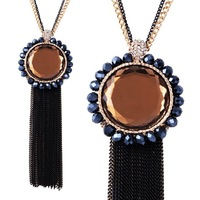 Free shipping Long necklace Crystal tassels pendants fashion Necklaces & Pendants N2238