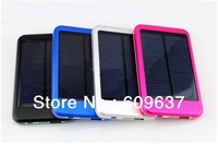 5000mAH Solar Cell Phone External Battery Pack Charge For Moblie Phone iPhone Samsung HTC Portable Power Bank+Free Shipping
