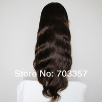 Queen hair product Grade 5A 150 heavy density Body Wave natural hairline Lace Front Wigs Brazilian Virgin Human Hair Free Shipp