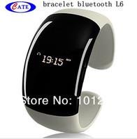 5pcs/lot Fashion Bluetooth Bracelet Vibrating LCD Caller ID Alert Anti-Loss Digital time L6 with speaker