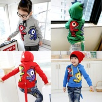 Autumn winter children's swearshirt long sleeve sweater with a hood master design outerwear 100% cotton for 2-8Y drop shipping