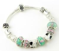 B1 charm bracelet for woman 2013 New Free shipping bracelets silver fashion 925 silver chamilia beads bracelets