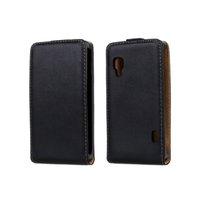 genuine PU leather flip phone case cover for LG Optimus L5 II E450