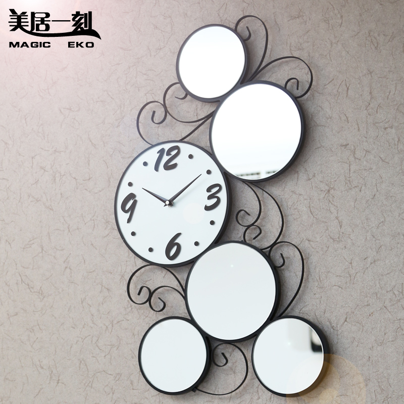 Fashion cutout meiju solid wood wall clock fashion living room wall clock 16 silent watch wall clock(China