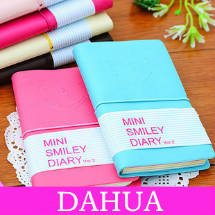 Korean Creative Imitation Leather+Paper Notebook Cute Diary Books Notepad 8 Colors,HD001-3284 Free Shipping Wholesale(China (Mainland))